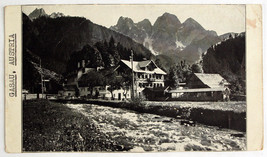 1940's Ski Chalet GOSAU AUSTRIA Gasthof-Pension Gosauschmied Vintage RPP... - $4.95