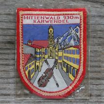 MITTENWALD 1960's Vintage Ski Patch GERMANY Travel KARWENDEL Felt NOS Sk... - $12.55