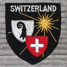 SWITZERLAND Vintage Ski Patch Travel Skiing Hiking Suisse Schweiz Black ... - $14.46