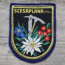 SCESAPLANA Vintage Ski Patch SWITZERLAND Travel Hiking Skiing AUSTRIA Cl... - $12.55
