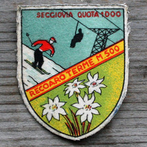 RECOARO TERME Vintage Ski Patch ITALY Travel Skiing Hiking Mille Screenp... - $22.20