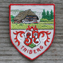 TRIBERG Im Schrwarzwald Vintage Travel Patch GERMANY Skiing Hiking Cloth... - $12.55