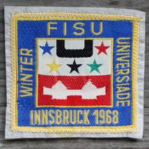 INNSBRUCK 1968 FISU Vintage Ski Patch Travel OLYMPICS Winter Universiade... - $19.30