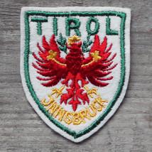 TIROL Vintage Ski Patch AUSTRIA Travel TYROL Red on White FELT LG Skiing... - $12.55