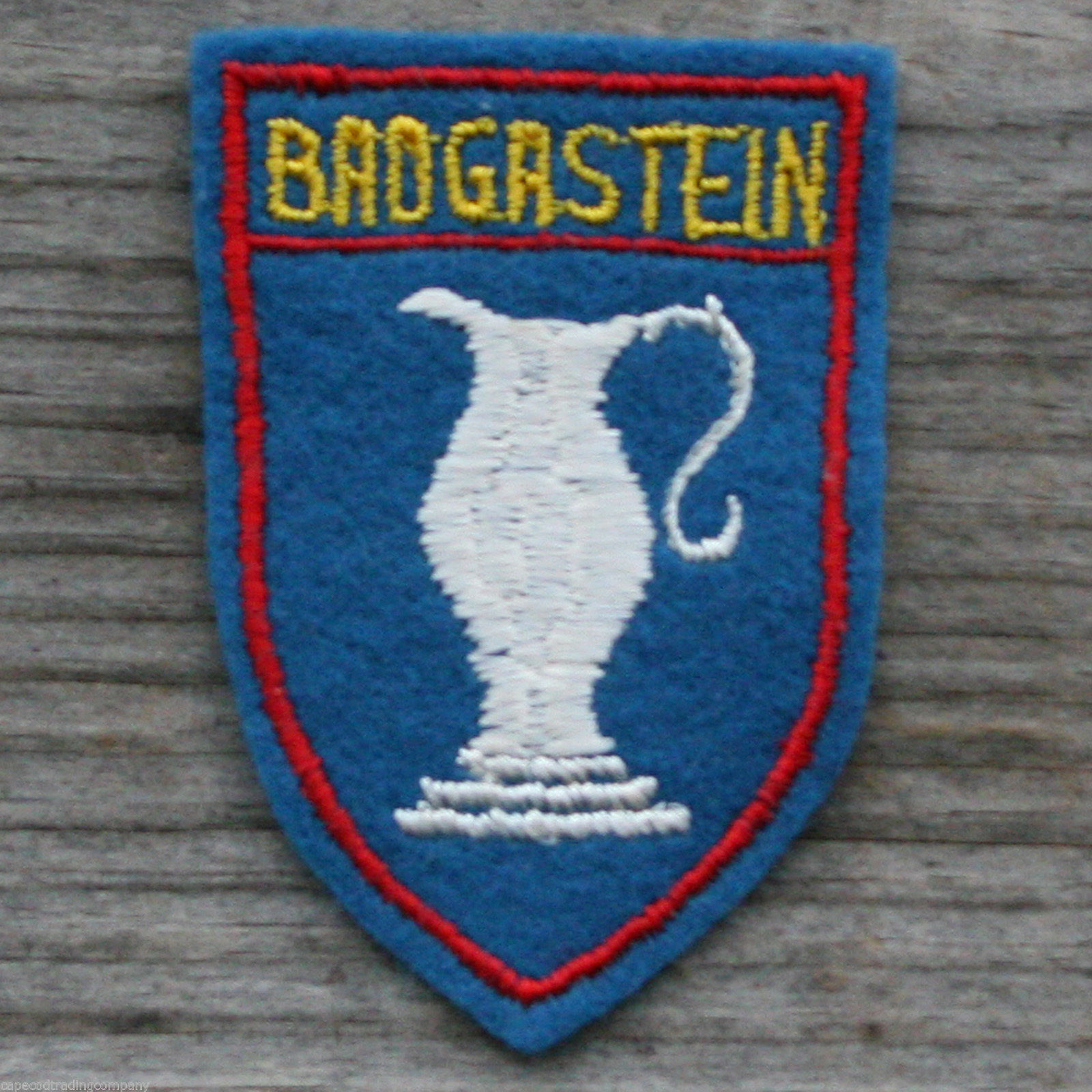 BAD GASTEIN Vintage Travel Ski Patch AUSTRIA Skiing Hiking Felt Salzburg