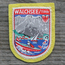WALCHSEE Vintage Ski Patch AUSTRIA Travel TYROL Woven on Felt EX + - $13.50