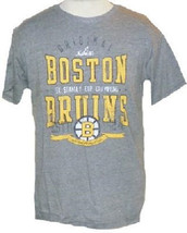 Boston Bruins Shirt Men's NHL Hockey Vintage 5X Stanley Cup Tee Original Six