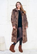 Swirl-whirl Vintage Fur Coat - $268.00