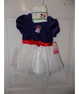 Disney Minnie Mouse Velour Dress W/Glitter Tulle & Tights NEW - $20.25