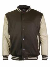 Men's Premium Classic Snap Button Baseball Letterman Varsity Jacket w/ Defect