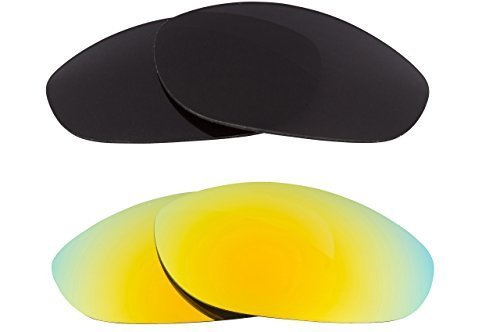 New SEEK OPTICS Replacement Lenses Oakley MONSTER DOG - Black Yellow