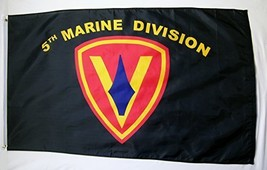 5th Marine Division Flag 3' X 5' Indoor Outdoor Military Banner - $12.95