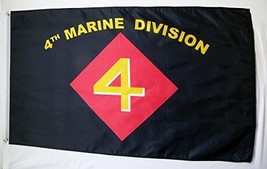 4th Marine Division Flag 3' X 5' Indoor Outdoor Military Banner. - $12.95
