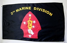 United States 2nd Marine Division Flag 3' X 5' Indoor Outdoor Banner - $12.95