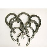 10 Pc #5 New (old look) Cast Iron Horseshoes for Crafting or Decor  - $28.99