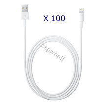 100x OEM Apple iPhone 6S Plus 5S Lightning Charger Cable Charging Data Sync Cord - $62.36