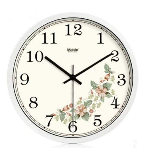 Primary image for 10-inch Silent fashion Art Pastoral Round Wall Clock,WHITE (NO.342)