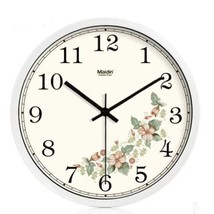 10-inch Silent fashion Art Pastoral Round Wall Clock,WHITE (NO.342) - $44.53