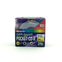 Memorex Cool Colors Pocket CD-R 10 pack - 210 MB - 24 Min - 24x Multi Speed - $13.85