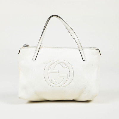 KIDS Gucci White Leather GG Top Handle And Similar Items - How to create paypal invoice gucci outlet online store authentic