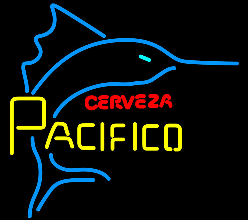 Cerveza Pacifico Large Marlin Neon Sign