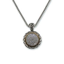 MICRO PAVE ANTIQUE CLEAR CUBIC ZIRCONIA PENDANT NECKLACE 16-2-18' - $39.59