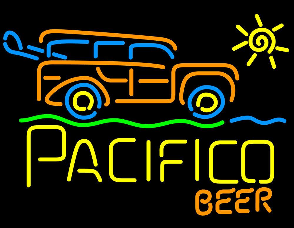 Cerveza Pacifico Sun Bus Neon Sign - Neon