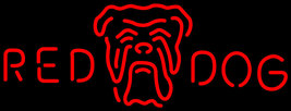 Red Dog Head Logo Neon Sign - $699.00