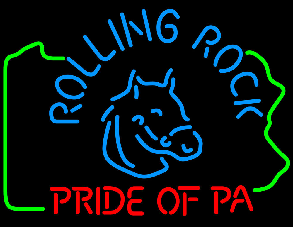 Rolling Rock Pride Of Pa Neon Sign - Neon