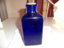 #4 Cobalt Blue Corked Bottle - $2.99