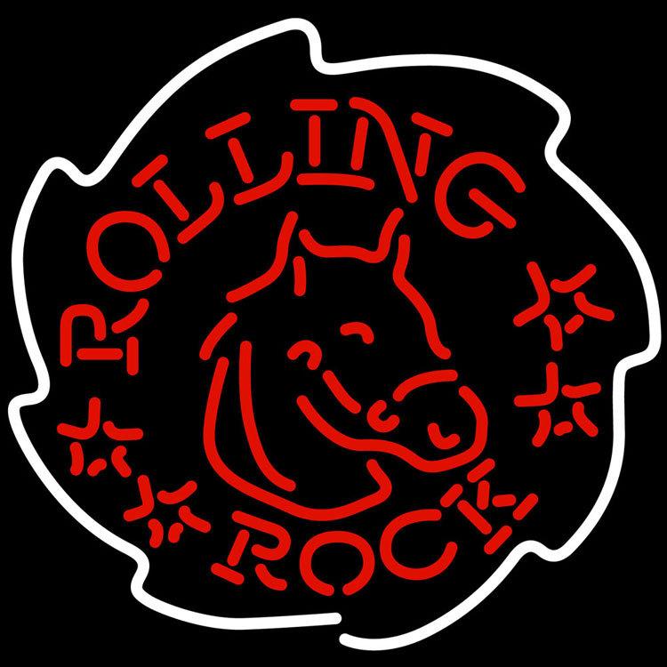 Rolling Rock Horse Neon Sign - Neon