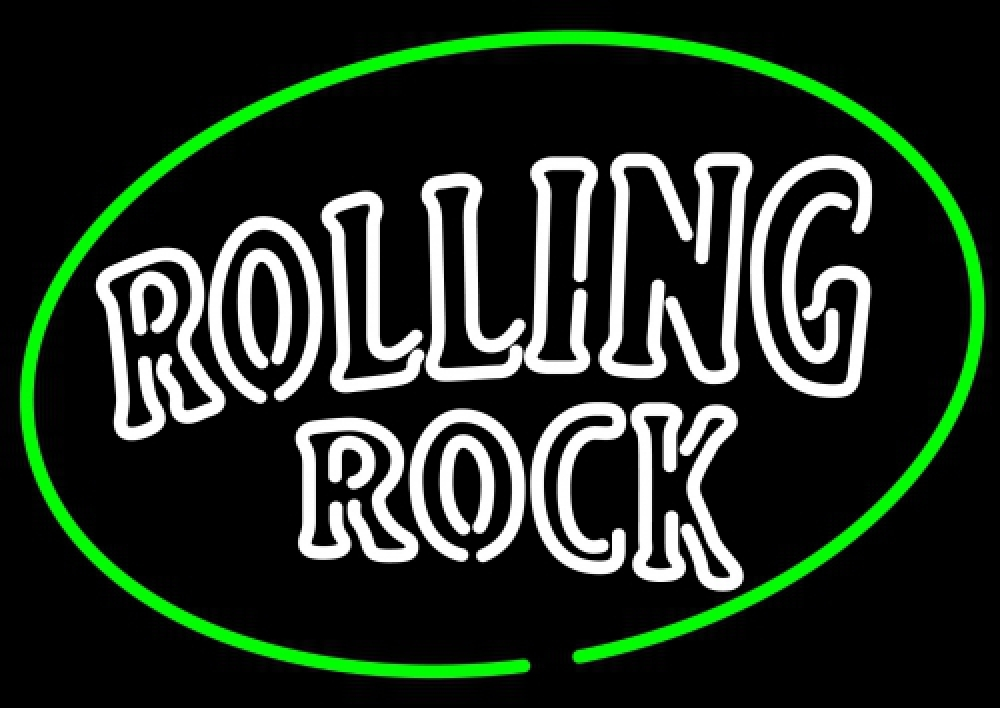 Rolling Rock Classic Large Logo Neon Sign - Neon