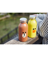 LINE Friends MOSH Tumbler BROWN / SALLY Character Bottle Coffee Free Nap... - $58.99