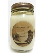 Fresh Ground Coffee -16oz Country Jar All Natural Hand Made Soy Candle - £10.62 GBP