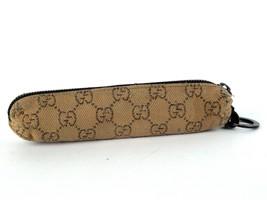 100% Authentic Rare Gucci GG Canvas pencil case Brown unisex Used 101598... - $69.30
