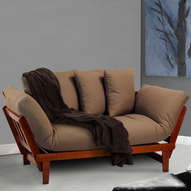 Wooden sofa bed vintage chaise lounge and similar items for Antique chaise sofa bed