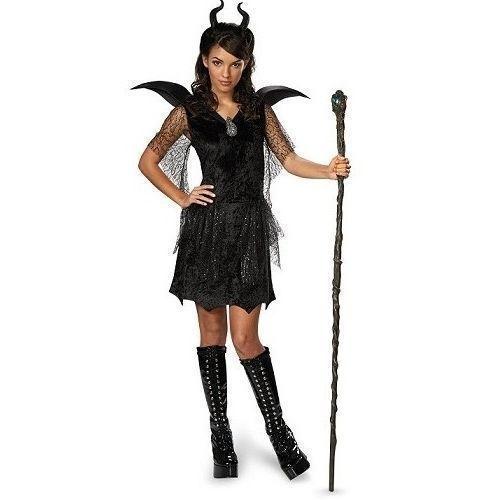 maleficent costume girls headband horns carnival party kids child black cosplay
