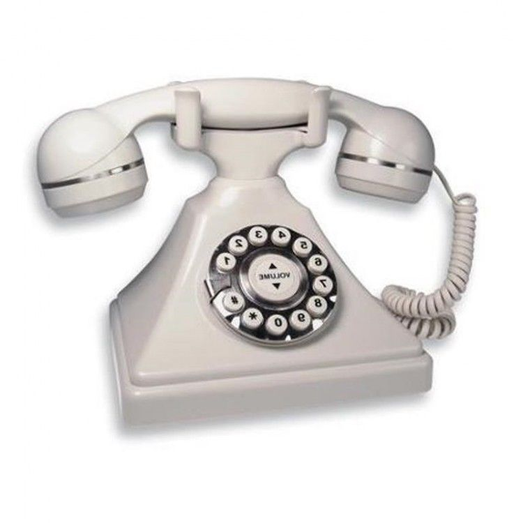 Retro White Telephone Vintage Desk Phone Home Office Collector Gift 50s 40s 30s