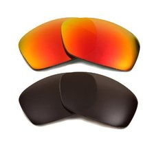 New SEEK Replacement Lenses Oakley HIJINX - Polarized Black Red - $33.15