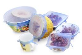 6PCS/Set Silicone Food Lids Flexible Sealing Stretch Suit, Bowl Covers - $20.04