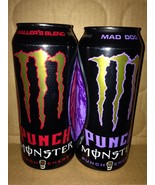 Monster Energy Drink DUB Edition (2)TWO Sealed 16oz Cans.MAD DOG/BALLER'... - $15.83