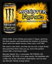 Monster Rehab Iced Tea 5 Cans 16oz Lot.1 Of Each Flavor.yellow,red,peach... - $22.76
