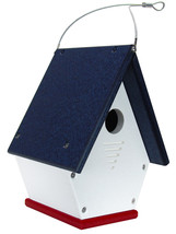 JCs Wildlife American Made Red, White and Blue Wren Chateau Birdhouses, ... - $29.95
