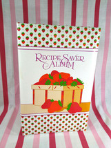 Sweet NOS Vintage Strawberry Recipe Album Book 1985 by Current w/Plastic... - $14.00