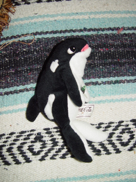 Primary image for Coca- Cola 1997 Plush Whale With Coke Bottle
