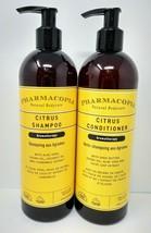 Pharmacopia Citrus Shampoo and Conditioner Aromatherapy 16 Oz. Natural B... - $42.97