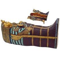 "Ebros Large 16"" Long 5 Piece Ancient Egyptian Pharaoh King TUT Sarcophagus with  - $199.99"