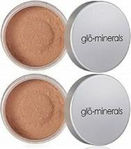 2 x GloMinerals Loose Base Powder Foundation 10.5 g Natural Dark New in Box LOT - $14.99