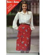 Vintage Misses Top and Skirt Butterick 3263 Sz 14-16-18 UNCUT - $5.50
