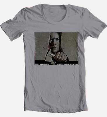 Escape from Alcatraz T shirt Clint Eastwood retro 80's Dirty Harry graphic tee